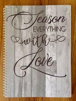 Season Everything With Love A4 Recipe Journal - cook book wedding gift present