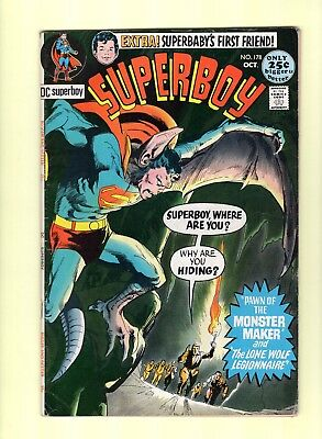 Superboy #178  --  Great Neal Adams cover!  --  6.0  FN  cond.