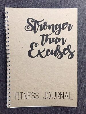 Fitness Journal - Gym Health log book Diary - A5 - Personal training