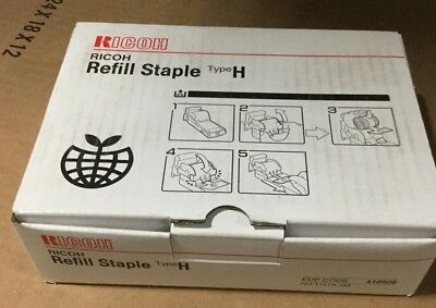 Genuine Ricoh Refill Staple Type H, 410509 (5 Rolls of 5000) #1101R-AM - 04B2