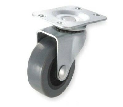 """One Swivel Plate Caster with 3"""" Gray Non Marking Wheel with 125 lb. Rating"""