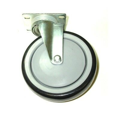 "Swivel Plate Caster / 6"" Non Marking Wheel with 2 1/2"" x 3 5/8"" Plate"