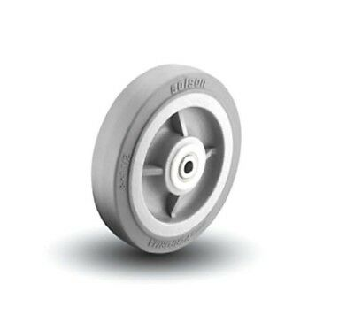 "Colson Performa Rubber Wheel 8"" x 1-1/2"" Soft Gray Non-Marking Wheel - 3/4"" ID"