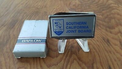 Vintage Barlow Pocket Knife Money Clip Nail File New Old Stock S Cal Joint Board