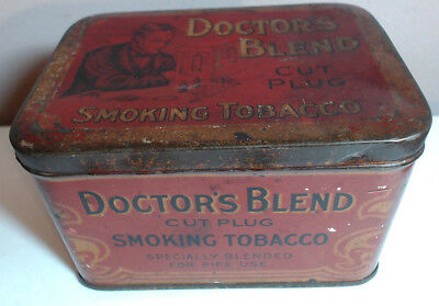 Antique Early Super Rare Vintage DOCTOR'S BLEND CUT PLUG SMOKING TOBACCO TIN