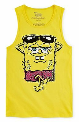 SpongeBob SquarePants Cartoon Yellow Tank Top T-Shirt - Youth S (8)- New w/Tags!