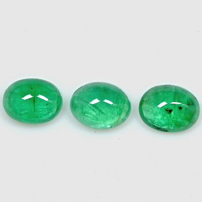 6.20 Cts Natural Green Emerald Loose Gemstone Oval Cabochon Lot 9x7 mm Zambia $