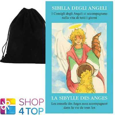 Angel Oracle Cards Deck Esoteric Telling Lo Scarabeo With Velvet Bag New
