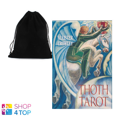 Aleister Crowley Thoth Tarot - De Luxe Deck Cards Esoteric Agm With Velvet Bag