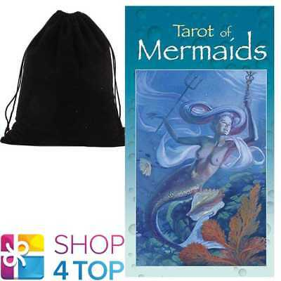 Tarot Of Mermaids Deck Cards Esoteric Telling Lo Scarabeo With Velvet Bag New
