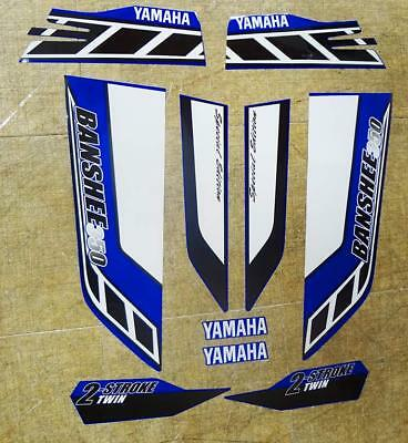 Yamaha banshee quad stickers graphic decal 10pc Special Edition Blue/Black/White
