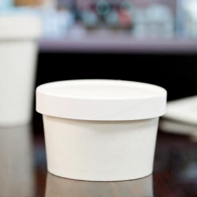 (250 Pack) 8 oz. Double-Wall White Paper Soup / Hot Food Cup with Vented Lid New