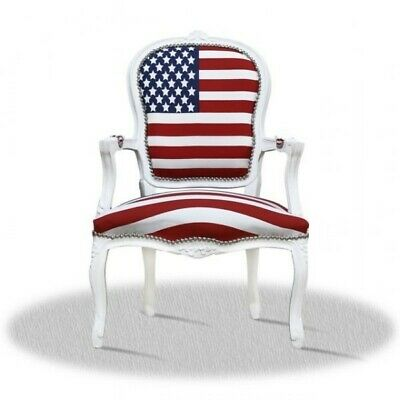 Fauteuil baroque avec Stars and Stripes