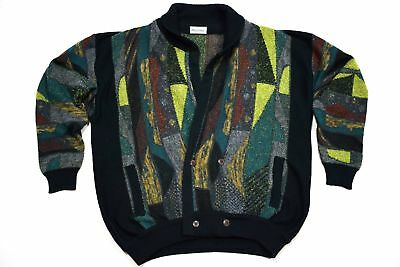 Strick Cardigan Jacke Pullover Sweater Jacket Vintage Style Enzo Lorenzo 52 ca L