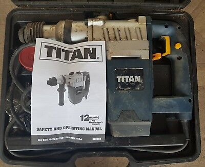 Titan  SDS  Plus Rotary Hammer Drill 240V + carry case + accessories