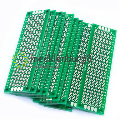 10PCS Double Side Prototype PCB Bread board Tinned Universal 2x8 cm 20x80 mm FR4