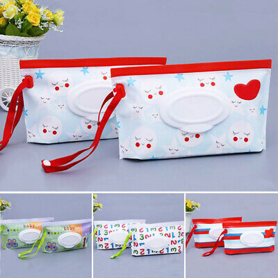 Portable Baby Wipes Bag Pouch Convenient Wipes bag for Outdoor Travel Shopping