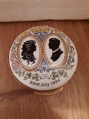 Crummles Enamel box - Prince Andrew and Miss Sarah Ferguson wedding