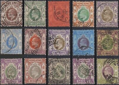 Hong Kong Classic: some used stamps 1904