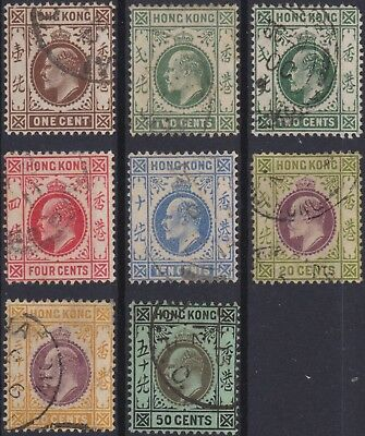 Hong Kong Classic: some used stamps 1907
