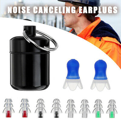 2 Pairs Ear Plugs for Concert Musician Shooting Sleeping Noise Cancelling Reduce