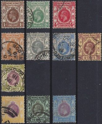 Hong Kong Classic: some used stamps 1912