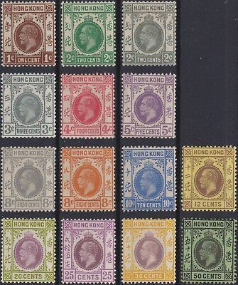 Hong Kong Classic: some MH stamps 1921-1931
