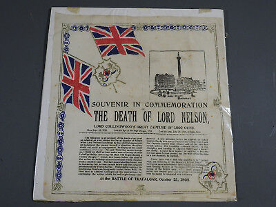 Souvenir Tissue in Commemoration of the Death of Lord Nelson