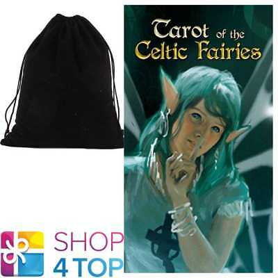 Tarot Of The Celtic Fairies Deck Cards Esoteric Lo Scarabeo With Velvet Bag New