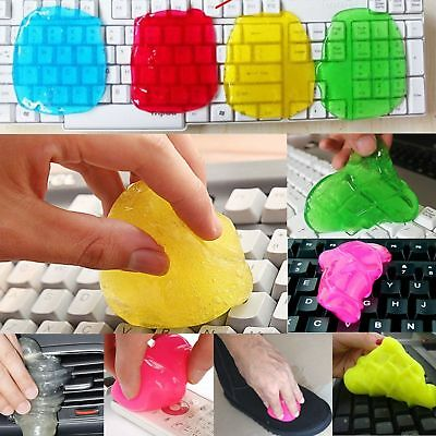 Keyboard Gel Cleaner Dust Germ Clean Cyber Putty Desk Laptop Computer Phone Car