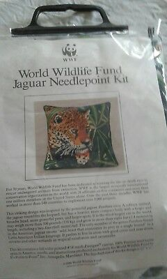 Wwf Jaguar Needlepoint Tapestry Kit To Do New In Pack Cushion Front