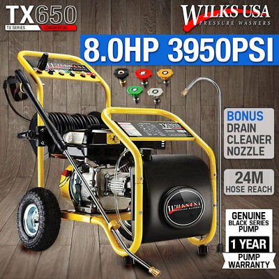 Petrol Pressure Washer - 8.0HP 3950psi AWESOME POWER TX650 WILKS USA