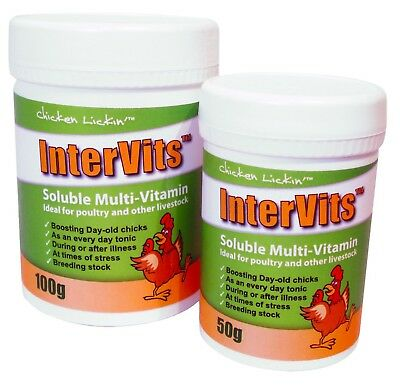 New Agrivite Intervits Soluble MultiVitamins - Poultry/Chickens/Chicks - 50G TUB