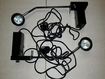 2 Hacel modular exhibition stand lights for shows, fairs, market stall, displays