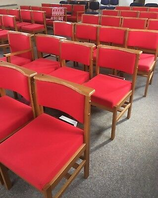 Job lot of Church/Hall Red Chairs