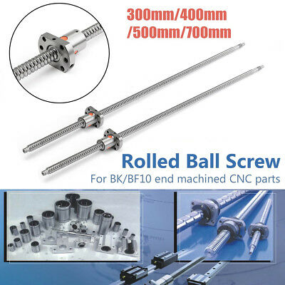 SFU1204 L300/400/500/700mm Rolled Ball Screw + Ballnut End Machined For CNC