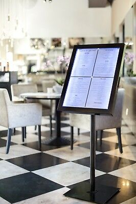 LED Menu Display Stand For A2 Menu - Suitable For Indoor Or External Locations
