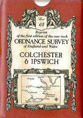 Ordnance Survey Map # 64: Colchester Ipswich David & Charles Sheet map, folded