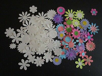 Die Cut Flowers  Stitched 31  Whit&  Ready To Paint Example On Listing