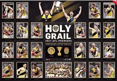2017 Richmond Tigers Holy Grail Grand Final Premiers Premiership Poster Print