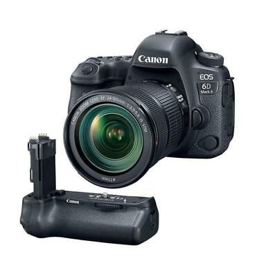New Canon Eos 6D Mark Ii Dslr With Ef 24-105Mm F/3.5-5.6 Is Stm Lens - With C...