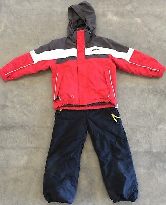 Kids Unisex Snow Outfit Snow Pants/overalls & Ripcurl Jacket Size 6 Good Con