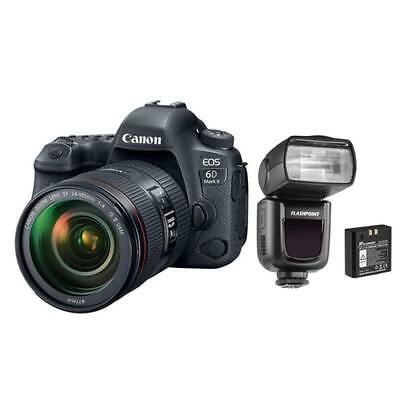 New Canon Eos 6D Mark Ii Dslr With Ef 24-105Mm F/4L Is Ii Usm Lens With Li-On...