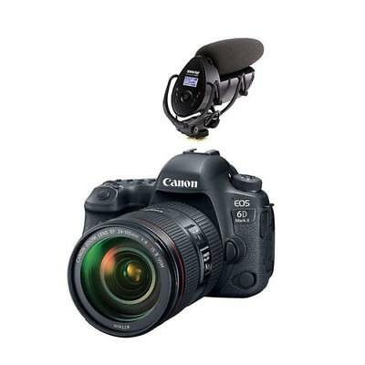 New Canon Eos 6D Mark Ii Dslr With Ef 24-105Mm F/4L Is Ii Usm Lens W/shure Vp...