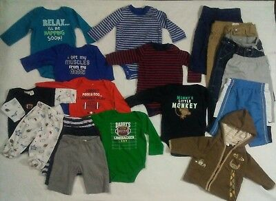 17 Pc Lot Infant Boys Fall Clothes Size 3-6m /6m Nike Baby Gap Carters Gerber