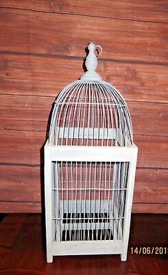 """Hand Made Dome Style Blue Wood Bird Cage 24"""""""