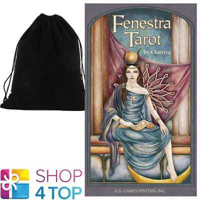 Fenestra Tarot Deck Cards Chatriya Esoteric Us Games Systems With Velvet Bag New