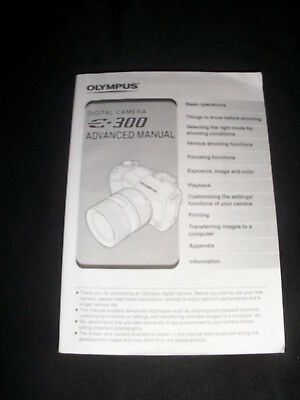 Olympus E-300 Digital Camera Instruction Manual User Guide