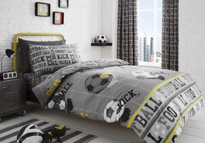 Childrens Football Reversible Duvet cover set, Fitted sheet, Curtains
