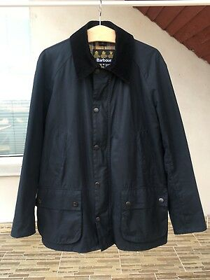 BARBOUR MEN'S ASHBY WAX JACKET NAVY MWX0339NY92 Size M
